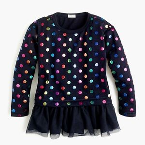 J.Crew/ Crewcuts Girls' foil-dot top with tulle
